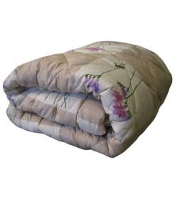 Стеганое одеяло из овечьей шерсти, плотность стандарт, лавандовое, размер 200*220, Эконом