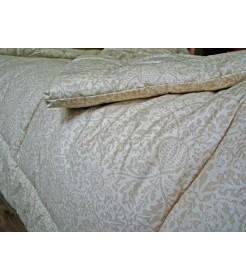 Стеганое одеяло из овечьей шерсти, плотность стандарт, чехол из сатина, пастельное, размер 170*205