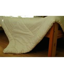 Стеганое одеяло из овечьей шерсти, особо теплое, чехол из сатина, молочное, размер 140*205