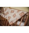 Детское стеганое одеяло из овечьей шерсти, плотность стандарт, Мишки желтые, размер 110*140