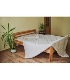 Стеганое одеяло из овечьей шерсти, особо теплое, молочное, размер 140*205