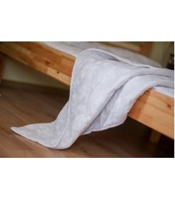 Тонкое и легкое стеганое одеяло из овечьей шерсти, Молочное,  200*220, Комфорт