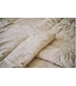 Стеганое одеяло из овечьей шерсти, плотность стандарт, молочное, размер 170*205