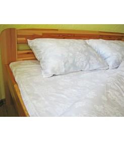Постельный комплект Сатин - Белый, двуспальный