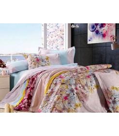 Постельный комплект Сатин - Цветочный, двуспальный
