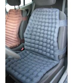 Накидка на автомобильное кресло,  ДЖИНС, валики, черная - EXTRA