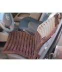 Накидка на автомобильное кресло - коричневая,  вельвет, валики EXTRA