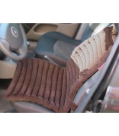 Накидка на автомобильное кресло - черная, вельвет, валики - EXTRA